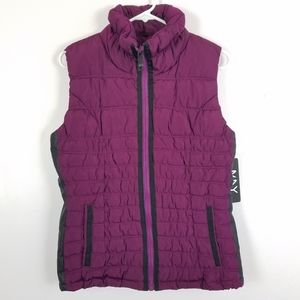 New Marc New York Performance Vest Purple S NWT